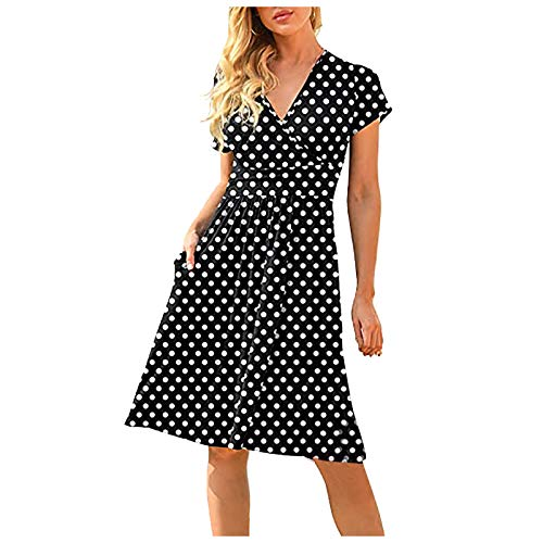 Bohemian Print A-line V-Ausschnitt Blumendruck Maxi Dresses for Women Summer Off Shoulder Cocktailkleider Damen Partykleid Damen Glitzer Lang Sommerkleid Damen Weiß#04 XL