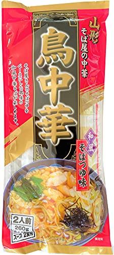 山形 鳥中華 ラーメン 1個 260g 袋麺 ラーメン スープ 付 2人前 やまがた とりちゅうか 和風そばつゆ味 中華そば みうら食品