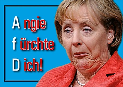 Aufkleber / Sticker - Angie fürchte Dich! Merkel muß weg DIN A6 10er Set Gauck Sticker Demo Protest Deutschland Neuwahlen Rücktritt Widerstand Regierung Lügt