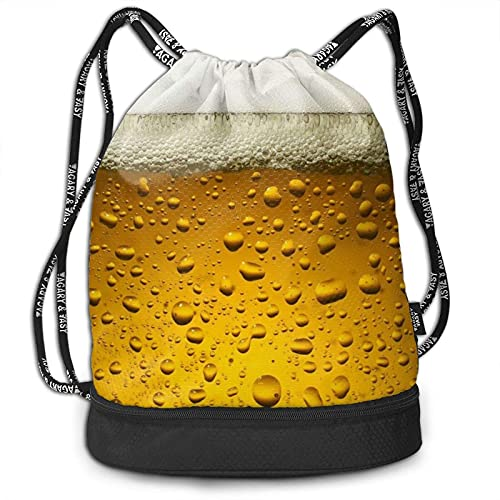 DJNGN Kordelzug Rucksack, Bier Wallpaper Print Sport Travel Gym Bundle Rucksack Tasche
