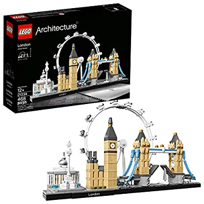 LEGO Architecture London Skyline Collection 21034 Building Set Model Kit and Gift for Kids and Adults (468 Pieces) by LEGO