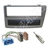 Autoradio 1-DIN Radioblende Halterung mit Fach + ISO Radioanschlusskabel Radio Adapter + Antennenadapter für Honda Civic (EM2/EP*/ES*/EV1) 12/2003-2006 für Fahrzeuge mit automatischer Klimaanlage
