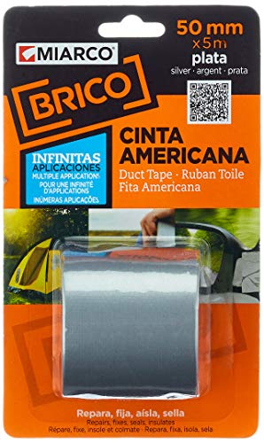 MIARCO 18890 - Cinta Americana Miarco Brico Plata 50mm x 5m