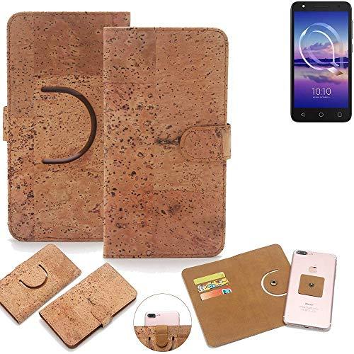 K-S-Trade® Handy Schutz Hülle Für Alcatel U5 HD Single SIM Korkhülle 1x