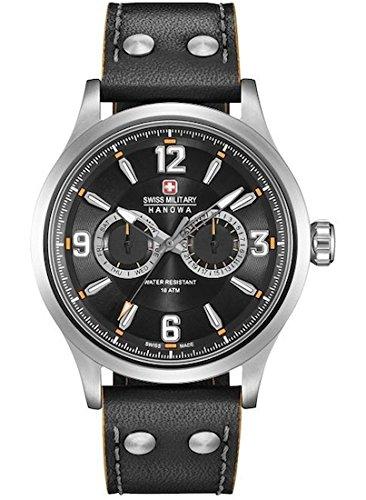 Swiss Military Hanowa Reloj Analógico para Hombre de Cuarzo con Correa en Cuero 06-4307.04.007