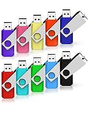RAOYI USBメモリ USB2.0 回転式 10個セット 黒