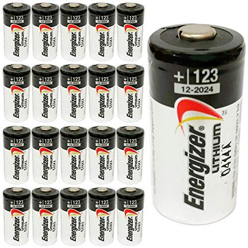 Pack of 20 Energizer EL123 3 Volt Lithium Battery Bulk Pack