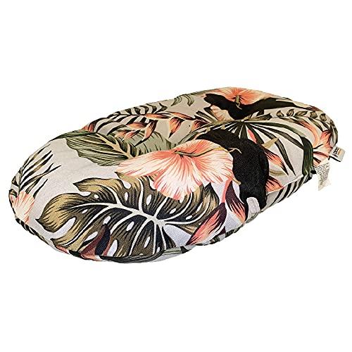 Croci Oreiller Ovale pour Chiens et Chats Exotiques, Meuble, utilisable sur Les Deux côtés, Motif Jungle Style 53 x 35 cm