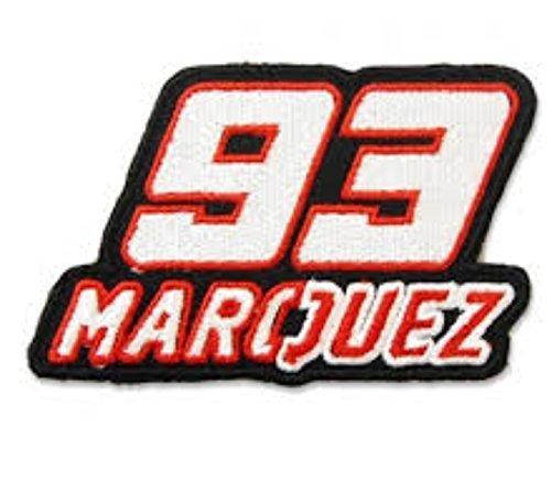 51mcyX8hRJL - MAREL Patch Mark Marquez '93MotoGP Parche termoadhesivo Bordado cm 9x 5Replica