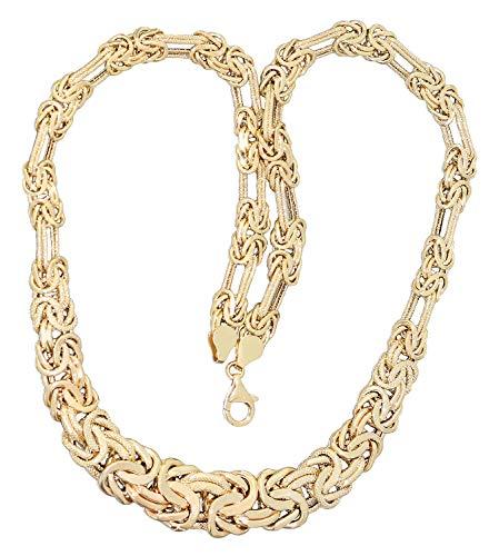 Hobra-Gold Collana a maglia bizantina, in oro