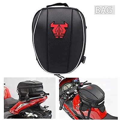 Motorcycle Tail Bag Waterproof Backpack - 12-15L Dual Saddlebag Large Capacity Luggage Bag Seat Bag Motorbike Saddle Bags - Red from JZY