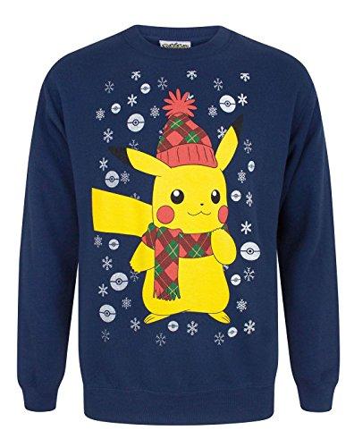 Vanilla Undergound Pokemon Pikachu Men's Christmas Sweater Blue