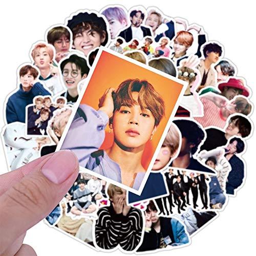 Cartón de juguete estrellas coreanas Kpop pegatinas para monopatín equipaje portátil calcomanías ídolos lindo fotos pegatinas juguete /50 unids