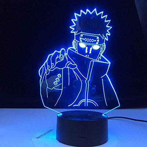 Baby Spielzeug Night Light Naruto Nagato Figure Children Led Changing Colors Child Bedroom Night Light Birthday Gift Table Lamp-7 Color No Remote