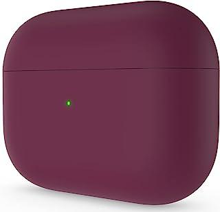 ORNARTO Compatibel met AirPods Pro Case, beschermende vloeibare siliconen hoes voor AirPods Pro 2019 zachte huid voorzijde...