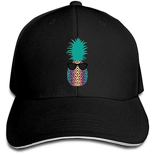 Dale Hill Gorra de béisbol Unisex Gafas de Sol Sombrero Plano de algodón de piña Gorras Deportivas y para Exteriores Retro Ajustables Negro