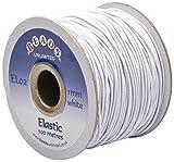 Beads Unlimited - Elastico colorato da 1 mm, 100 Metri, Colore: Bianco