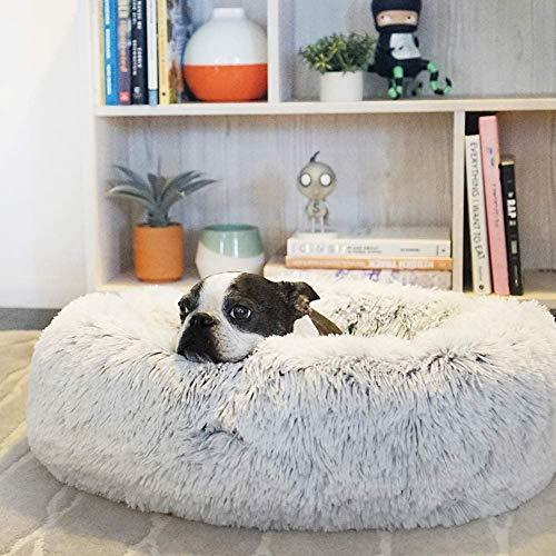 MTHDD Premium Orthopädisches Haustierbett für Große Hunde,Donut Hundebett Weiches Plüsch Rundes Hundesofa mit Wasserfeste Unterseite,Hundekörbchen waschbar,A,100CM