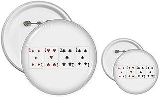 Lot de 5 badges en forme de cœur et de bêche en diamant