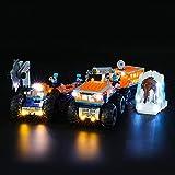 BRIKSMAX Kit di Illuminazione a LED per Lego City Base Mobile di Esplorazione Artica,Compatibile con Il Modello Lego 60195 Mattoncini da Costruzioni - Non Include Il Set Lego.