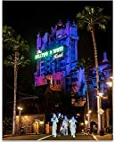 Tower of Terror with Ghosts - 11x14 Unframed A Print - Great Children's Room Decor and Gift for Disney Fans Under $15