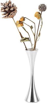 Rehomy Mini florero, 17 cm de alto acero inoxidable boda florero pequeño brote florero decorativo centro moderno suministros para el hogar