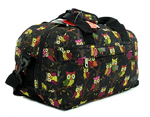 GSS , Trolley Multicolore Owl Black carry-on