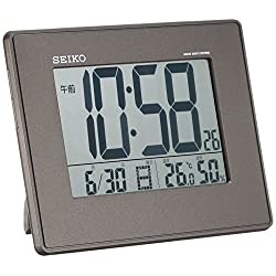 SEIKO CLOCK ( Seiko clock ) large-screen, temperature and humidity radio digital alarm clock ( black ) SQ770K