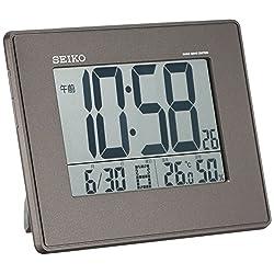 SEIKO CLOCK ( Seiko clock ) large-screen, temperature and humidity radio digital alarm clock ( black ) SQ770K