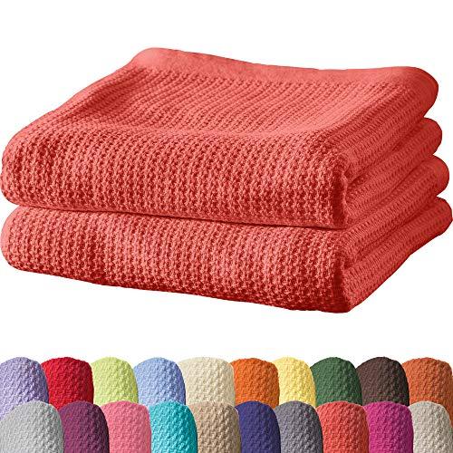 Erwin Müller Sommerdecke, Baumwolldecke - 2er-Pack - luftig-leicht, weiche Qualität, sehr angenehm - Hummer Größe 100x150 cm - weitere Farben und Größen - 100% Baumwolle