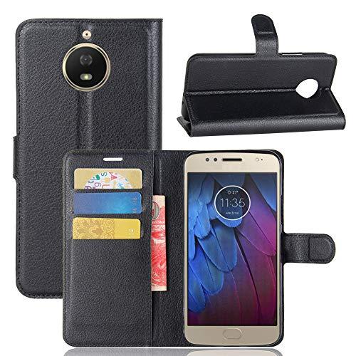 betterfon | Buch Tasche Hülle Etui Book Hülle Cover Schutz Hülle Handy Tasche für Lenovo Motorola Moto G5s Schwarz