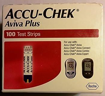 ACCU-CHEK Aviva Test Plus Strips 100 Count