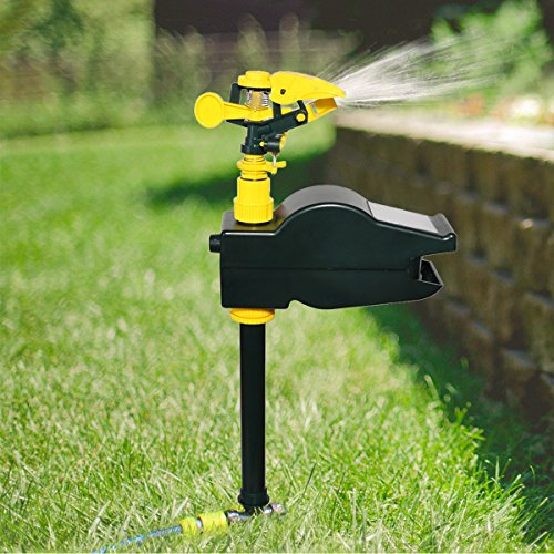 Yardeen Solar Motion Activated Sprinkler Eco-Friendly Jet Spray Animal Repeller Garden Pest...