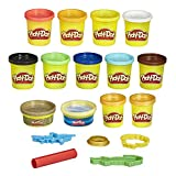 Play-Doh Pirate Theme 13-Pack of Non-Toxic Modeling Compound for Kids 3 Years and Up with 3 Cutter Shapes, Coin Mold, and Roller Tool (Amazon Exclusive)
