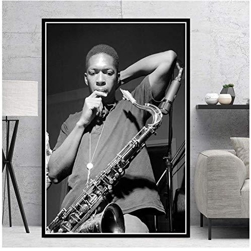 A&D Miles Davis Blue Jazz Musik Album Popstar Poster Wandkunst Malerei Leinwand Wandbilder Für Wohnzimmer Wohnkultur-50x70 cm x 1 stücke-Kein Rahmen