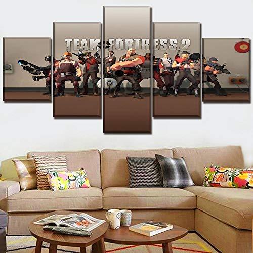 CGHBDOP - Lienzo decorativo para pared (5 paneles, 5 paneles)