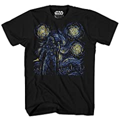 The PREMIUM CHARCOAL HEATHER color of this shirt is a higher quality, soft touch poly/cotton blend with a higher thread count. The Black shirt is 100% Cotton. Mens Adult Sizes Officially Licensed By Star Wars Disney Amazon Prime Eligible, this new fa...