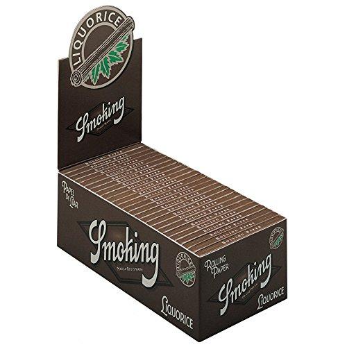 smoking [スモーキング]リコリス シングル(70mm) ペーパー 50枚入り×50ブックレット(1箱) 手巻きタバコ 巻紙