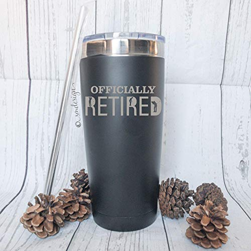 Officially Retired Golfing Men's Tumbler - Retirement Gift Idea For Fathers Day Mens
