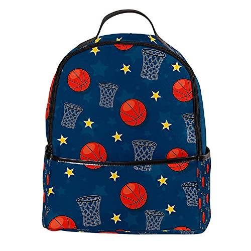FURINKAZAN Mochila de viaje de moda con diseño de estrellas de baloncesto