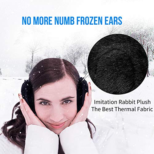 Bluetooth Ear Warmers Earmuffs for Winter Women Men Kids Girls, MUSICOZY Bluetooth Ear Muffs Headphones - Built-in HD Speakers and Microphone with Carry Bag for Biking Running Walking Dog Hiking