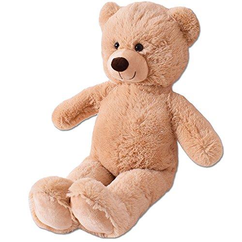 TE-Trend XL Plüsch Teddybär Riesen Teddy Kuscheltier Kuschelteddy Bär 80cm braun Plüschbär sitzend