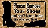 Quita el felpudo de tus zapatos, no tome un par mejor cuando te...