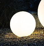 Kugelleuchte Bodenleuchte Leuchtkugel Gartenkugel Mundan inkl. Erdspieß | 500 mm Ø | weiß | wetterbeständiger Kunststoff | 230V | E27 | IP44 | rund | Außenleuchte | Gartenleuchte | Wegleuchte