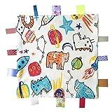Coperta colorata Taggy sicurezza, Coperta Soft Touch Comfort con Taggies per il neonato e neonata Boy, Giocattoli di peluche - Giallo