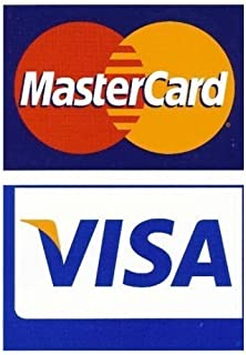 Visa/Mastercard Window or Door Decal- 2 Sided Large