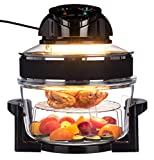 LIVIVO 17L Halogen Oven Cooker with Self-Cleaning 1400W Element and Easy Analogue Controls,...