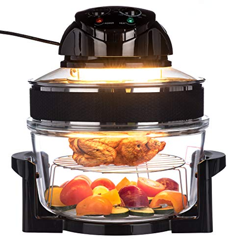 FiNeWaY Electric 17L Halogen Air Fryer Oven with Extension Ring with Self...