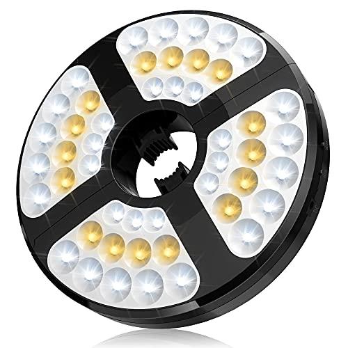 [48LED] Lampada Per Ombrellone, Luce Per Ombrellone ricarica USB Wireless, Durata Più Di 50.000 Ore, Tre Modalità Di Illuminazione Batterie 4400mAh Integrate, Facile da installare, Adatta Per Giardini