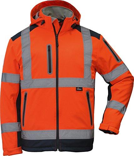 TRIUSO Winter Warnschutzsoftshelljacke in orange in Größe 5XL